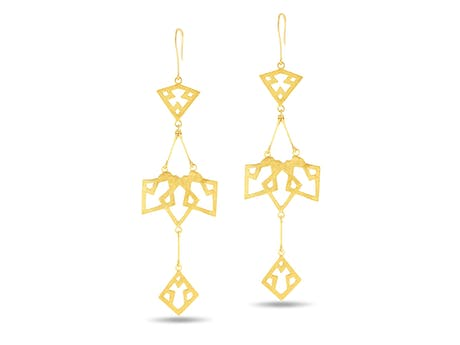 Girih Bird Earrings