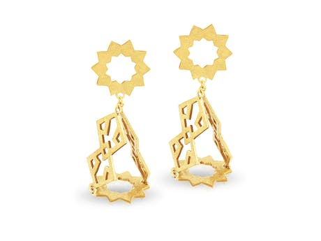 Girih Sun Earrings