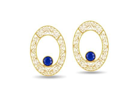 Mali Oval Earrings