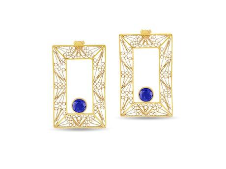 Mali Square Earrings
